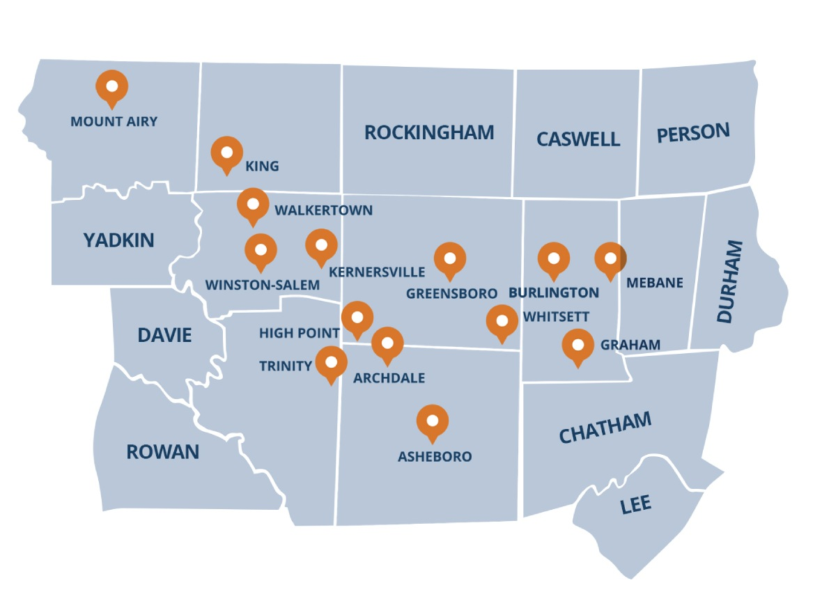 Serving The Piedmont Triad Areas of NC